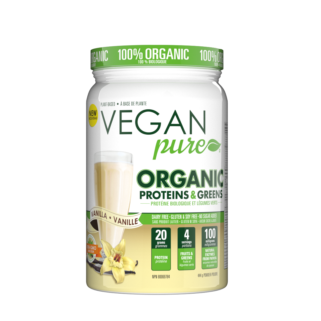 Vegan Pure - Organic Proteins & Greens Vanilla